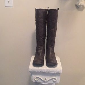 Shoes - Man Made Tall Brown Boots